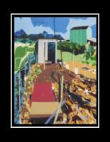 Our School at Blair Grocery Chicken Coop: Lower 9th Ward New Orleans, 2015, 19.5inx15in, acrylic on panel