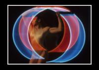 Encircled with Red and Blue Neon