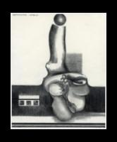 Eugene J. Martin, 1978, untitled, graphite on paper, h: 9 3/4 x w: 8 in