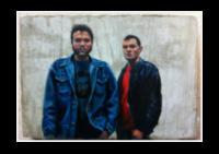 Raige and Zonta (oil on concrete)